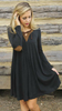 Fashion Paneled Long Sleeve Dress