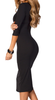 Women's Black  Stretch Bodycon Dress