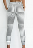 Women's Casual Striped Elastic Pants