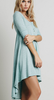Women's Fashion Dress/Casual Micro-elastic ½ Length Sleeve