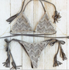 Women Halter Bikini/Solid Wireless  Knit