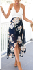 Women Fashion Printing V-Neck Backless Chiffon Dresses/Polyester
