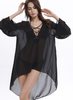 Women Sexy V-neck Summer Chiffon Beach Smocks/Cover up