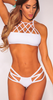 Women's Sexy Vintage Strappy Hollow Out Triangl Swimwear Bikini