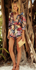 Women Causal Printing Beach Jumpsuit