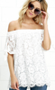 Summer Lace Strapless Casual Cover- Up/Women Tops