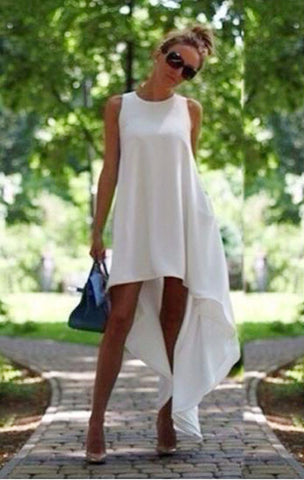 Casual Oversize Solid Color Dress