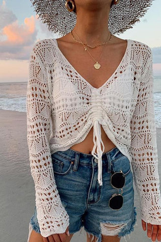 Crochet Drawstring Cover Top