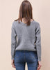 Tie Deep V Neck Pullover Knitted Sweater