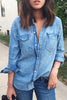 Turndown Collar Pocket Denim Shirt