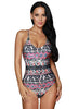 Stylish Gypsy Print One-Piece Bathing Suit