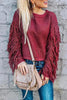 Tassels Sleevless O Neck Sweater