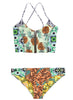 2 Piece Pineapple Printed Swimwear