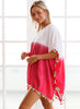 Color Block Tassel Beach Cover up