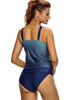 Cross Straps Ocean Flavor Two Piece Swimsuit
