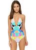Geometric Print One Piece Swimsuit