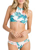Green Leaf Printing Tankini Bathing Suit