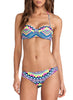 Halter Bandeau Top Bikini Bottom Tribal Print Swimwear