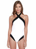 Halter Color Block Swimsuit