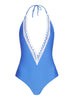 Halter Deep V Neck One Piece Swimsuit