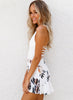 Halter Sleeveless Backless Strap Floral Printed Romper