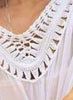 Hand Crochet Detail Boho Style Beach Dress