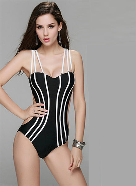 Sexy Stripped One Piece Swimsuit