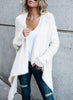 Solid Color Open Front Irregular Cardigan Sweater