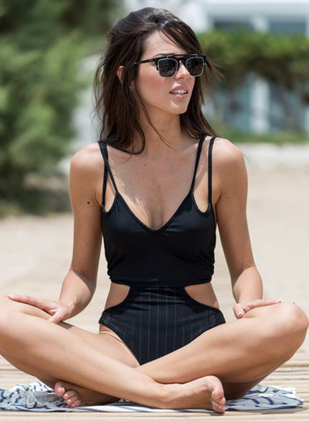 Strappy Cut out Waist One Piece Swimsuit