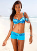 Underwire Top Boy Short 2 Piece Bikini Set
