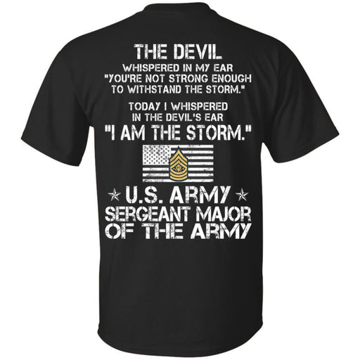 12- I Am The Storm - Army Sergeant Major of the Army CustomCat