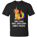 50 Dog 50 Unicorn 100 Magic Funny Tshirt For Dog Lovers CustomCat