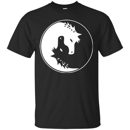 Horse T-Shirt Couple Black White Yingyang Horse Shape For Valentine Tee Gifts Tee Shirt