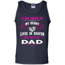 A Big Piece Of My Heart Is My Dad Angel T-shirt CustomCat