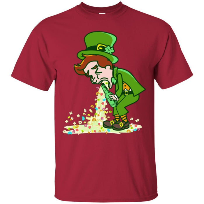 A Man Drinking Beer Get Drunk Funny Gifts Patrick's Day T-Shirt CustomCat