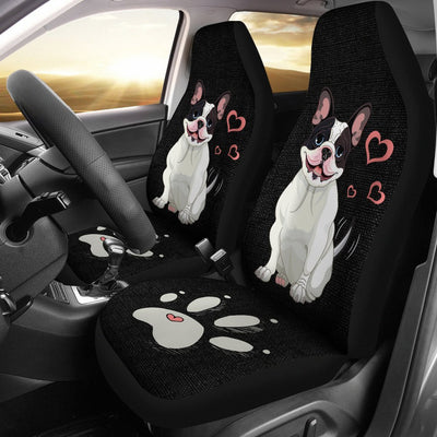 Adorable Bulldog Car Seat Covers (Set Of 2) My Soul & Spirit