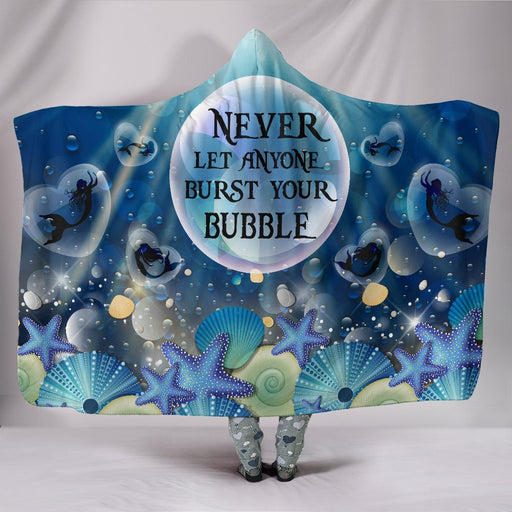 Adorable Mermaid Bubble Hooded Blanket My Soul & Spirit