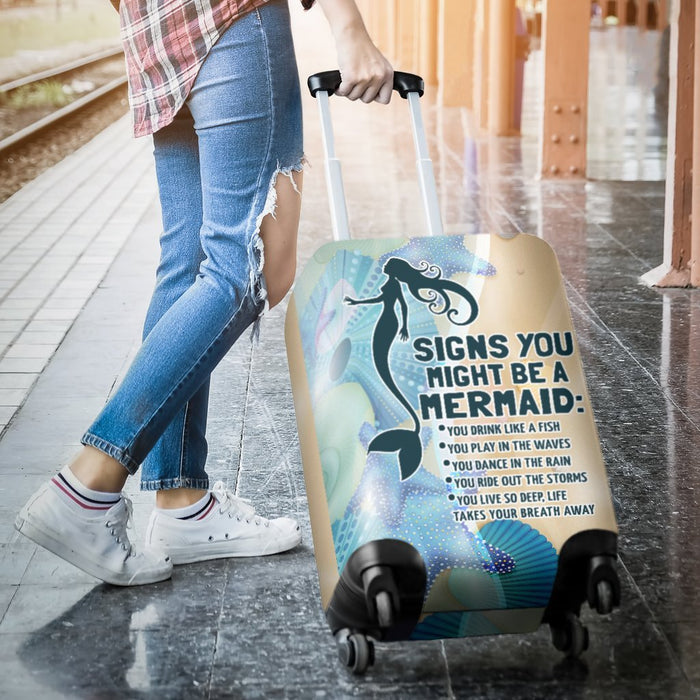 Adorable Mermaid Signs Luggage Covers My Soul & Spirit