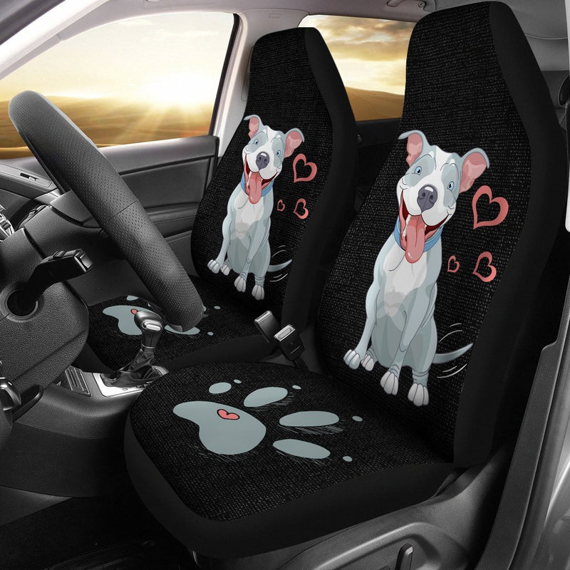 Adorable Pitbull Car Seat Covers (Set of 2) interestprint
