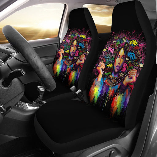 African American Black Girl Art Car Seat Covers (Set Of 2) My Soul & Spirit