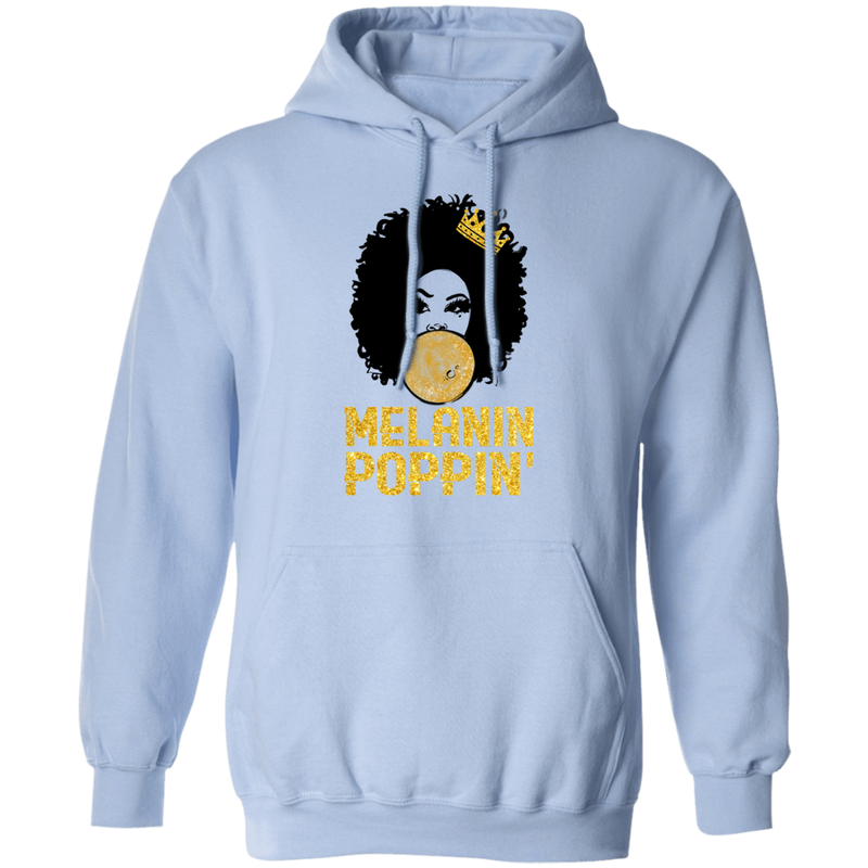 African American T-Shirt Melanin Poppin' Balloons Crown Black History Month Shirt For African Pride CustomCat