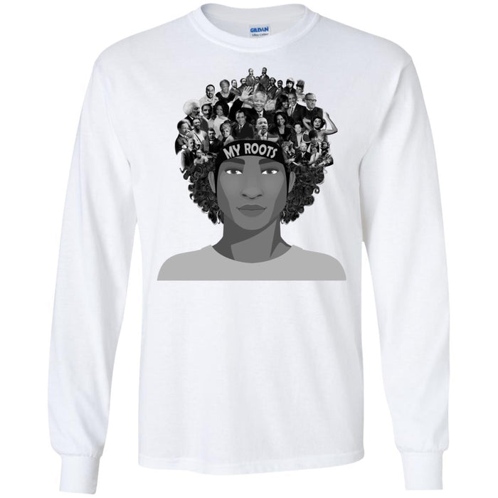 African American T Shirt My Roots Famous People In My Head Proud Black History Month For Male Shirt CustomCat