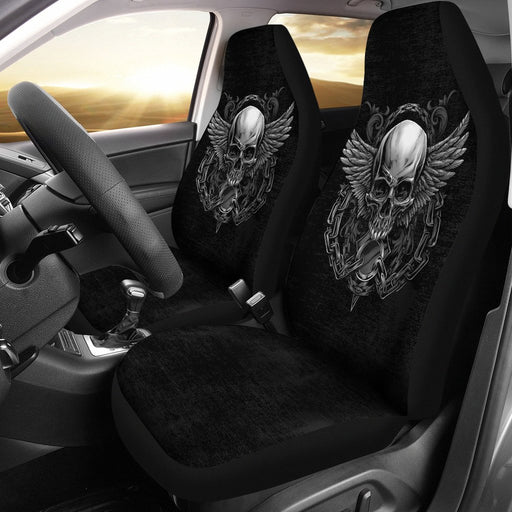 Amazing Badass Skull With Wings Car Seat Covers (Set Of 2) My Soul & Spirit