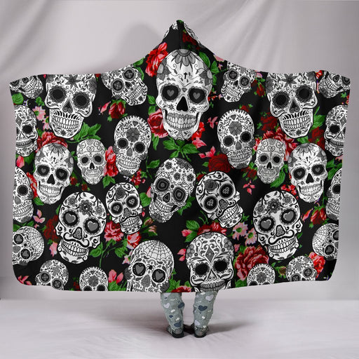 Amazing Sugar Skull Hooded Blanket My Soul & Spirit