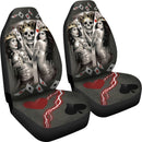 Antique Skull King And Queen Playing Card - Amazing Car Seat Covers (Set Of 2)