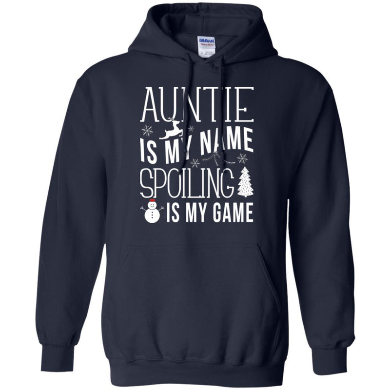 Auntie Is My Name Spoiling Is My Game Merry Christmas Funny Gift Shirts CustomCat