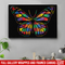 Autism Awareness Canvas - Butterfly Puzzle Piece Autism Awareness Canvas Wall Art Decor