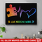 Autism Awareness Canvas - Love Needs No Words Canvas Wall Art Decor