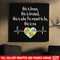 Autism Awareness Canvas - This Is Brave This Is Bruised This Is Who I'm Meant To Be This Is Me Heartbeat Heart