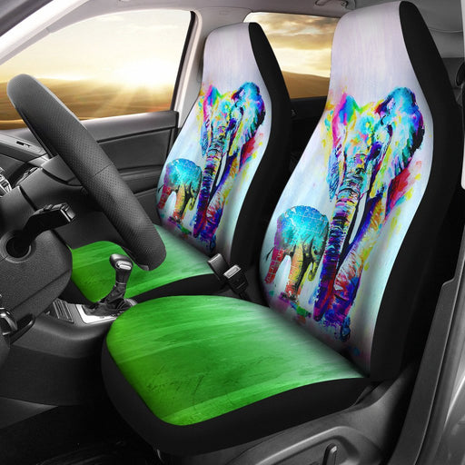 Autism Awareness - Elephant Dad And His Baby Car Seat Cover (Set Of 2) My Soul & Spirit
